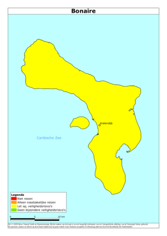 Reisadvies Bonaire positief aangepast