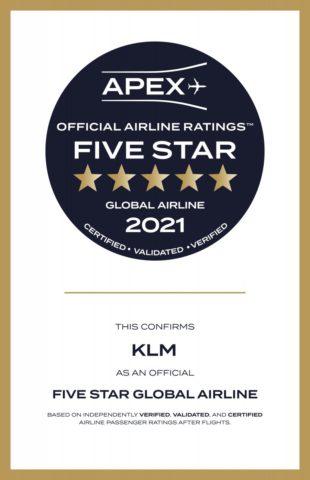 5 APEX sterren voor KLM