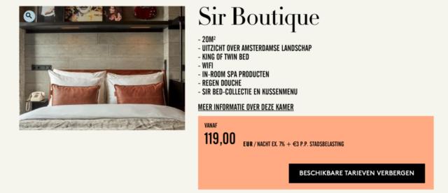 Dubbel voordeel met 2e kamer gratis bij Sir Hotels