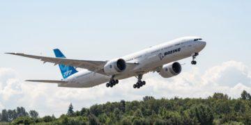 Boeing 777X stijgt op voor een testvlucht (Bron: Boeing / Twitter)