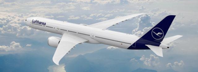 Boeing 777X in Lufthansa livery (Bron: Lufthansa)