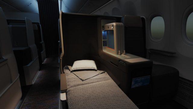 Business Class cabine aan boord van de Boeing 737 MAX 8 van FlyDubai (Bron: FlyDubai)