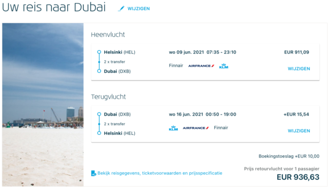 InsideDeal – Voor €850 in World Business Class met KLM naar Dubai