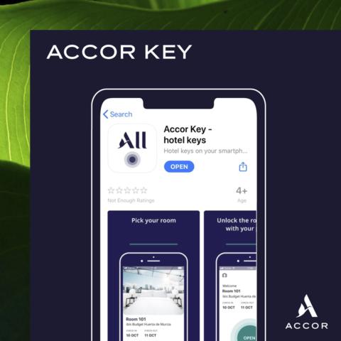 Accor introduceert Accor Key, je digitale kamerkaart