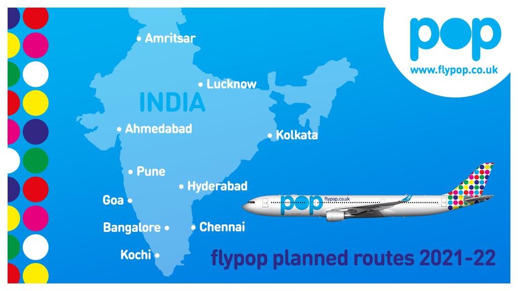 De eerste bestemmingen waar flyPOP zich op wil gaan richten (Bron: flyPOP)