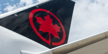 Staart van een Boeing 787-8 Dreamliner van Air Canada (Bron: Air Canada)