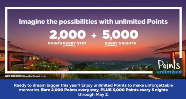 Hilton Honors, nieuwe leden bonus, Hilton