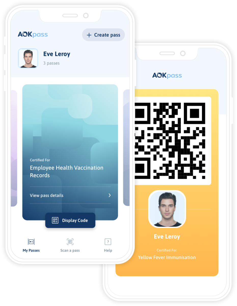 Air France test de ICC AOKpass app sinds maart dit jaar (Bron: Air France / ICC AOKpass)